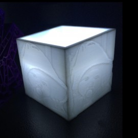 Cube photophore lithophanie