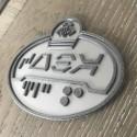 Badge Prénom Aurebesh 3D personnalisé