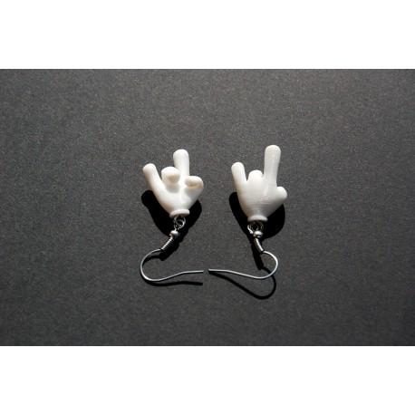 Boucle d'oreilles mains