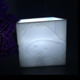 Cube photophore lithophanie 1 Photo
